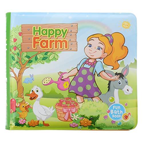 TOYANDONA Libros de Baño para Bebés Niños Suaves Impermeables Juguetes para El Baño de Bebés Flotantes Libros Educativos para Bebés Niños Pequeños Color 1