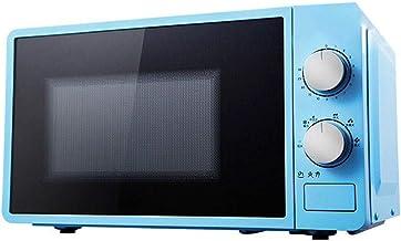 Horno de microondas 20 litros, 800 vatios, horno de microondas solo con función de descongelación, 6 ajustes de potencia, temporizador de 0-30 min, cocina rápida de un toque, fácil de limpiar ,Blue