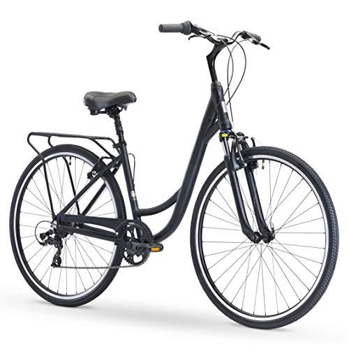 sixthreezero Body Ease Women's 7-Speed Comfort Road Bicycle, Matte Black 26
