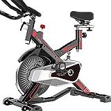 Bicicletas estáticas y de spinning Bicicleta magnética para hacer ejercicio con una computadora de entrenamiento y un entrenador de cruz elíptica con una máquina de entrenamiento cardiovascular con pé