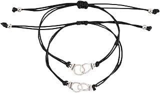 Happyyami Bracelets Tressés Réglables Promesse Bracelets Amitié Couple Distance Correspondant Bracelets Cadeau pour Femmes...