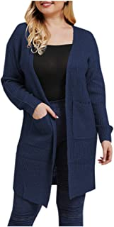 GDJGTA Cardigan for Womens Plus Size Knitting Open Cape Casual Coat Blouse Kimono Jacket Cardigan