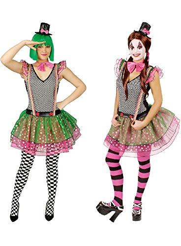 narrenkiste K31250280-44-46 - Disfraz de payaso para mujer, talla 44-46, multicolor