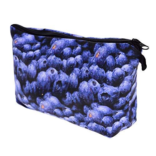 FRTU Beauty Case Pochette viola portatile da donna di moda viola grande capacità borsa da viaggio porta cosmetici da viaggio multiuso viola