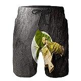 Mesk Pantaloncini da Surf da Uomo,Spezia Giapponese Wasabi,Costume da Bagno con Fodera in Rete ad Asciugatura Rapida 2XL