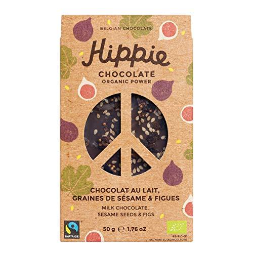 Hippie Bio Schokolade Sesam & Feigen, 50 gramm