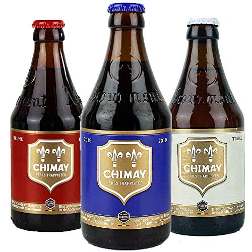 Chimay - 3er Bier Set - aus Belgien - je 0,33l von.BierPost.com