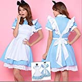 Deetto Alice in Wonderland Cosplay Anime Maid Costumes Lolita Women Girls Dress