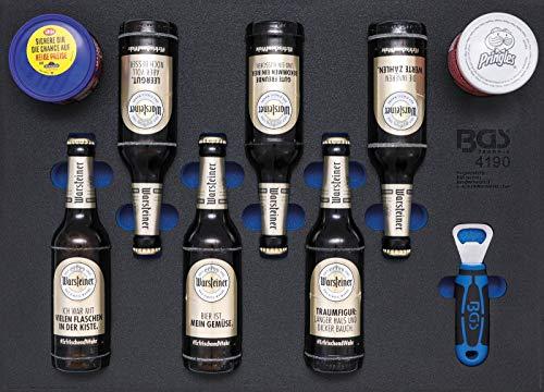 BGS 4190 Inserto per Carrello da Officina 3/3: Birra, trucioli e Arachidi, 9 Pezzi