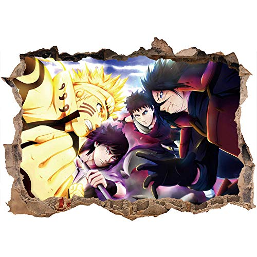 3D Wall Stickers Naruto Wall Decal Nursery Manga Gutters Trunks Janpanse Anime Wall Sticker Car poster mural-60 * 90CM-C_40*60CM