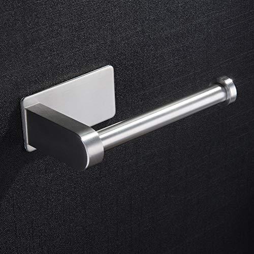 ZUNTO Toilettenpapierhalter Selbstklebend Ohne Bohren Klorollenhalter Klopapierhalter Edelstahl Gebürstet WC Papier Halterung