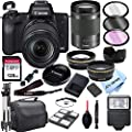 Canon EOS M50 Mirrorless Digital Camera with 18-150mm Zoom Lens + 128GB Card, Tripod, Case, and More (24pc Bundle) from Al's Variety-Canon intl