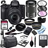 Canon EOS M50 Mirrorless Digital Camera with 18-150mm Zoom Lens + 128GB Card, Tripod, Case, and More (24pc Bundle)