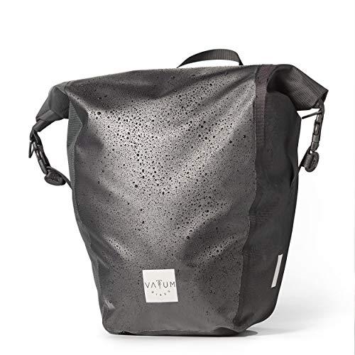 Vatum Bikes wasserdichte Fahrradtaschen für den Gepäckträger - Fahrrad Gepäckträgertasche zum Umhängen - Satteltaschen für Fahrrad außen als Seitentasche