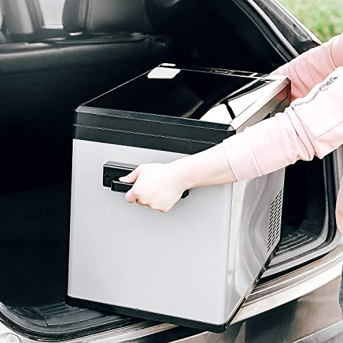 Linsion 54 Quart RV Refrigerator/Freezer Compact Vehicle Car Fridge Compressor Electric Cooler for Car,Truck,RV,Boat,Outdoor and Home use 12/24V DC and 90-250 AC,Cooling to -4℉