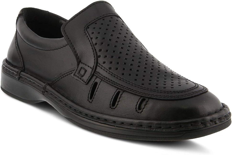 Spring Step Men Apollo shoes   color Black   Leather shoes