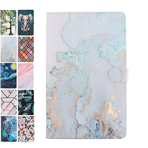 Fundas para Tablets Universal 10 Pulgadas Samsung Huawei Apple Lenovo 9.6 9.7 10.1 10.2 10.5 Case Cover Carcasa de Cuero Patrón de Efecto Mármol Animal -