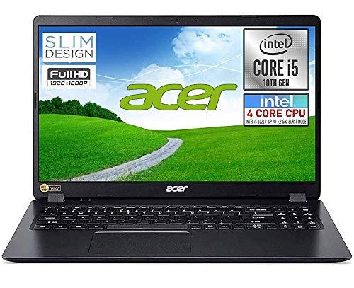 Notebook Acer pc portatile SSD, Intel Quad Core i5 10210U fino a 4,2 Ghz, RAM 8GB, SSD M.2 PCi 512GB, Display 15.6' Full HD, Svga UHD 620, 3 usb, wi-fi, hdmi, lan Win 10 pro, pronto all'uso
