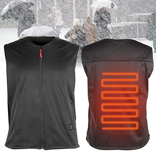 Fishawk Chaleco eléctrico Resistente a Las Manchas con calefacción, USB eléctrico calentado, Senderismo para Cazar Mujer de Invierno