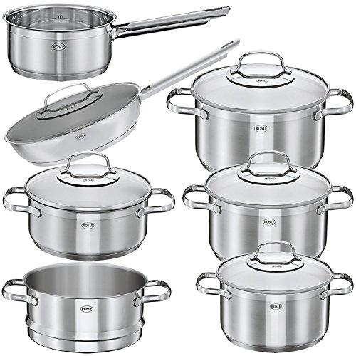 Rösle 13279 Elegance - Batería de cocina (12 piezas, apta para inducción, apta para lavavajillas)
