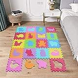 Mshen puzle para niños | puzle de suelo de goma en espuma eva animal- 18 piezas alfombra de juego para bebé esterilla de rompecabezas aprox 1,62 m2- 5556g3009