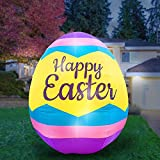 Holidayana Inflatable Easter Egg Decoration - 8ft Inflatable Yard Decor Includes Built-in Bulbs, Tie-Down Points, and Powerful Built-in Fan
