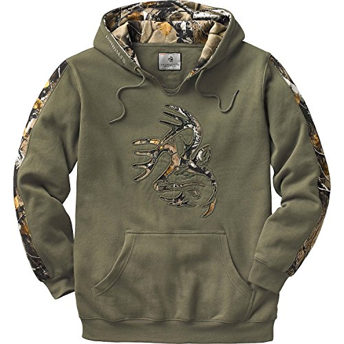 Legendary Whitetails Mens Camo Outfitter Hoodie, Army, XXXX-Large