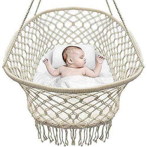 SWDBABY Baby Wiege Aufhängen Bette Hängematte Wiegen Babywiege Kinderbett Quaste Brasil Comfort Gitterbett Miansheng Webart