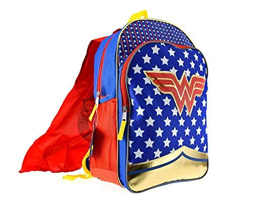 Wonder Woman Girls Backpack w/Detachable Cape Standard