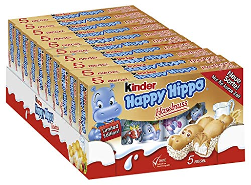Happy Hippo Haselnuss 5er Multipack, 10er Pack (10 x Multipack)