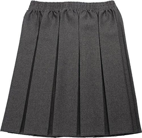 CreativeMinds UK - Falda de uniforme escolar para niña, diseño plisado, cintura elástica Gris gris 15-16 Años