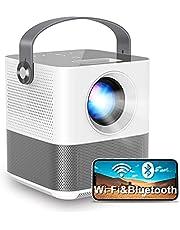 FANGOR プロジェクター 小型 7500lm ワイヤレス投影 1920*1080フルHD対応 Bluetooth デジタル台形補正 スマホと直接接続 スマホ/パソコン/PS4/タブレット対応 三年保証