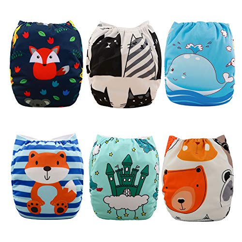 Babygoal Baby Cloth Diapers, One Size Reusable Washable...
