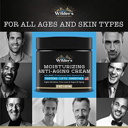 517AIMa6RyL - Men's Anti Aging Face Cream Moisturizer - Premium Skin Care for Men with Collagen, Retinol, Hyaluronic Acid - Made in USA - Fast Anti-Age Effect Day & Night - Wrinkle Free Facial Men Moisturizer 2Oz