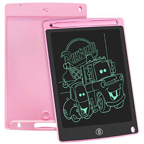 WOBEECO LCD Schreibtafel Kinder 8.5 Zoll, Elektronisches Schreibtablet Mit Hellerem Bildschirm, Löschbarer Und Anti-Clearance-Funktion,Elektronischem Kindertablett-Schreibblock(Rosa)