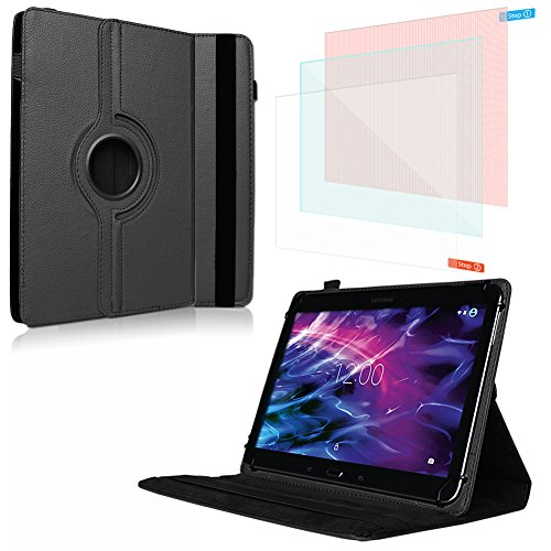 NAUC Tablet Schutzhülle für Medion Lifetab P10603 E10412 P10606 P10602 X10302 P10400 P10506 aus Kunstleder Hülle Tasche 360° Drehbar Cover Case Universal