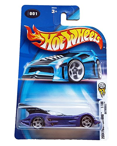 Hot Wheels 2004 First Editions BATMOBILE #001 PURPLE 1:64 Scale