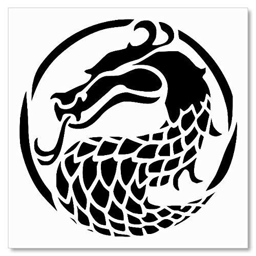 Stencil Mortal Kombat Dragon Logo Reusable Sturdy Flexible Clear Thin Plastic HKaStore 0265