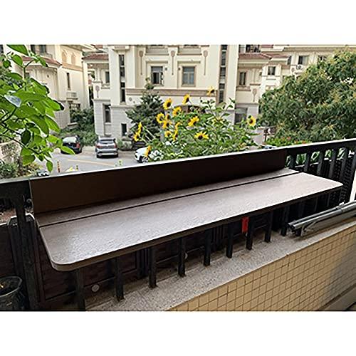 TENGKUNLUN Mesa Colgante para balcón, Plegable, Altura Regulable, Plegable, para balcón, Mesa Colgante