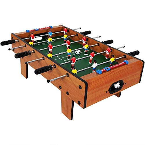 divine man Mid-Sized Foosball, Medium Football, Table Soccer Game, 6 Rods,69* 37*24 Inches