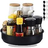 Plato giratorio para la cocina, pequeño organizador de armarios de plástico libre de BPA, especiero giratorio para guardar especias y tarros en la despensa