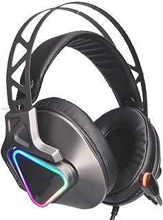 XWZ Auricular para Juegos, USB Headset 7.1 de Sonido Envolvente de Alta definición con Control de línea Gaming Headset, Fi...