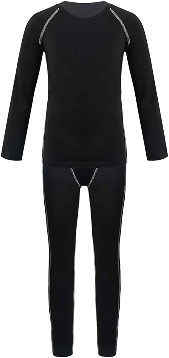 dPois Kids Children Athletic Compression Base Layer Raleigh Mall ShirtsLeggi Max 56% OFF