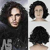 ANNIAN Juego de Tronos Jon Snow - Peluca sintética para cosplay de Halloween