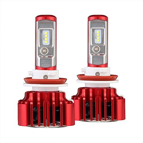 ZGMA H11 Automatique Ampoules électriques LED Lampe Frontale White Spot T11