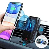 BILLKAQ Wireless Car Charger,15W 10W Qi Fast Charging Car Mount Charger Auto-Clamping Air Vent Car Phone Holder Compatible with iPhone 12/11 Pro/Xs MAX/XS/XR, Samsung S10/S9/S8 & Other Qi Smartphone
