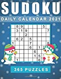 Sudoku Daily Calendar 2021: 365 Sudoku Puzzles for every day of the year 2021, Large Puzzles From Easy to Hard with solutions.