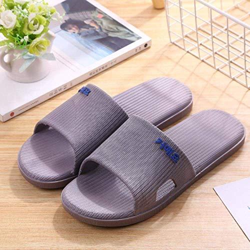 LIUCHANG liuchang20 Damen-Sandalen mit offenem Zehenbereich, weiche Hausschuhe für Zuhause, rutschfest und verschleißfest, Deodorant-Slippers-38-39_grau, rutschfeste Duschsandalen