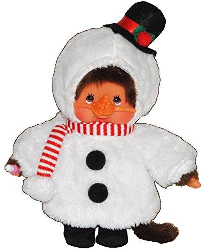 alles-meine.de GmbH Monchhichi als Schneemann - ausziehbar - Monchichi Snowman Winter Weihnachten Schnee Verkleidet