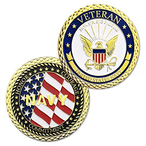 United States Navy Veterans Challenge Coin Department of the Defense Army Military Coin